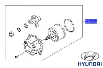 Genuine Rear Differential Coupling Hyundai Santa Fe 2006