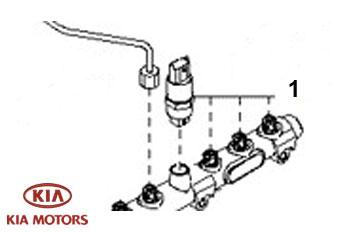 Genuine Fuel Pressure Sensor Kia Sorento 2003-2007 2.5 TD