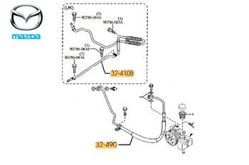 Genuine Power Steering Hoses Mazda 6 MPS 2006-2008 2.3