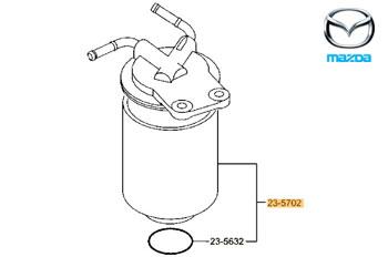 Genuine Fuel Filter Mazda CX-5 2012-2017 2.2 TD (148 bhp