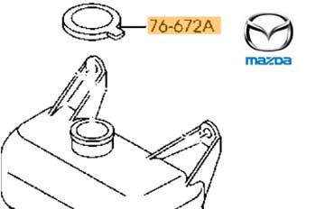Genuine Headlight Washer Cover Mazda RX8 2003-2010 1.3