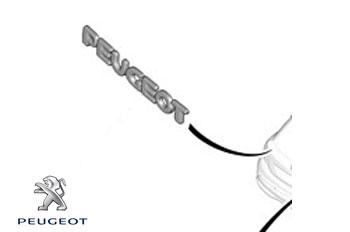 Genuine Rear Badge Peugeot 207 2009-2011 1.6 HDi (92 bhp