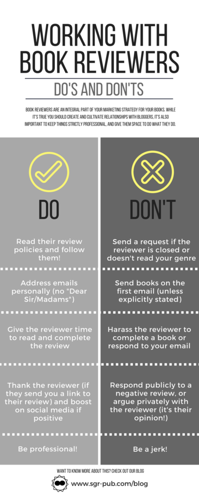 The do's and don'ts of working with book reviewers