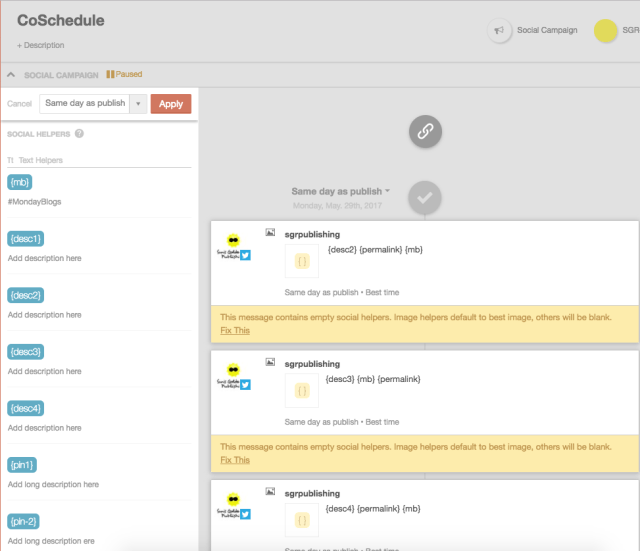 A look at how we use Coschedule's Content Templates for our weekly blog posts