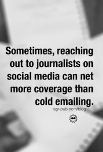 On Author Media Kits: Sometimes, reaching out to journalists on social media can net more coverage than cold emailing.
