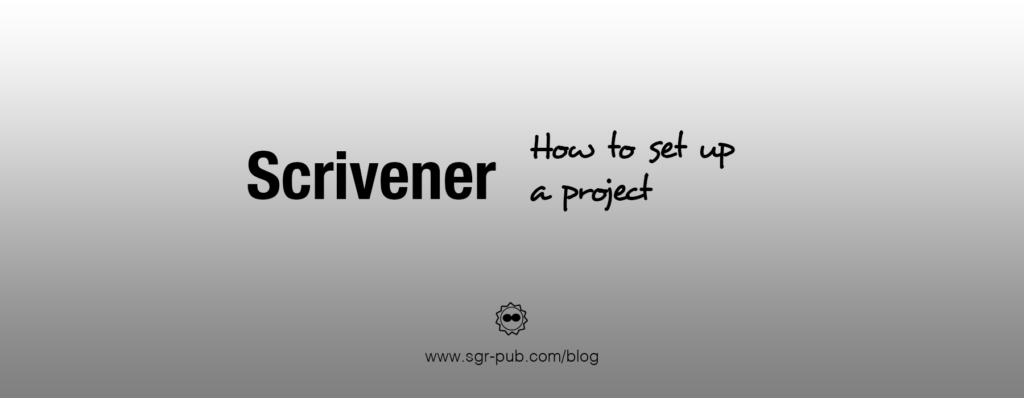 How to set up a project in Scrivener
