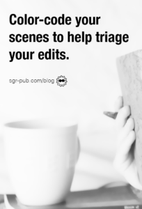 Editing in Scrivener: Color-code your scenes to help triage your edits