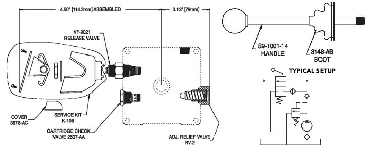 KC15 Relief-Check-Manual Release Valve Kit