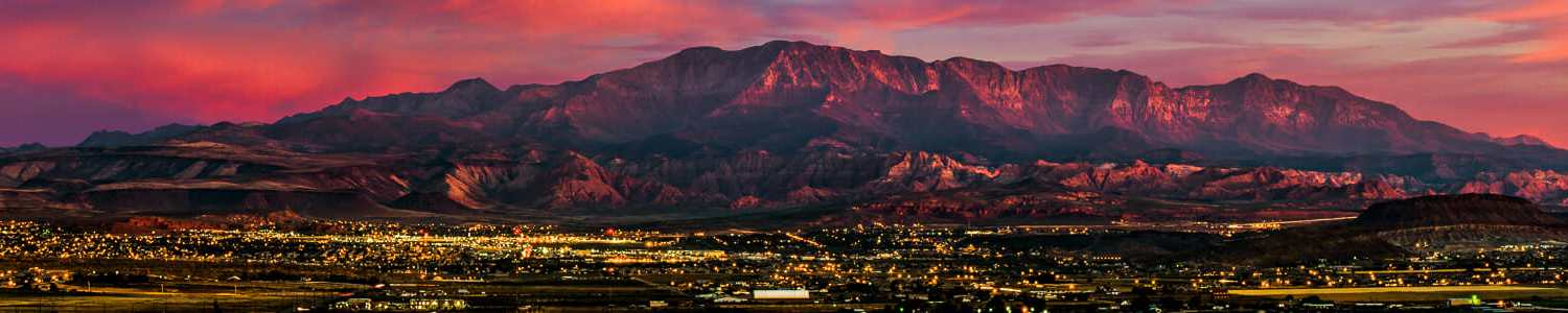 St. George Utah at sunset