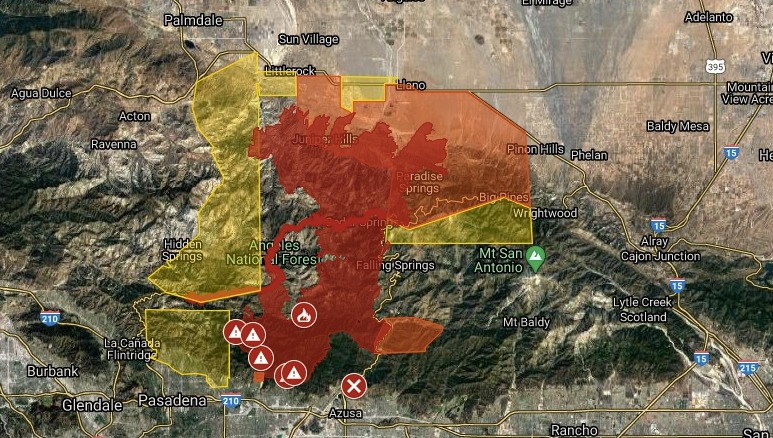 Our wildfire map is the only one like it—reporting all wildfires regardless of size so you know what's burning near you. Map Shows Where The Bobcat Fire Is Burning In The San Gabriel Mountains San Gabriel Valley Tribune
