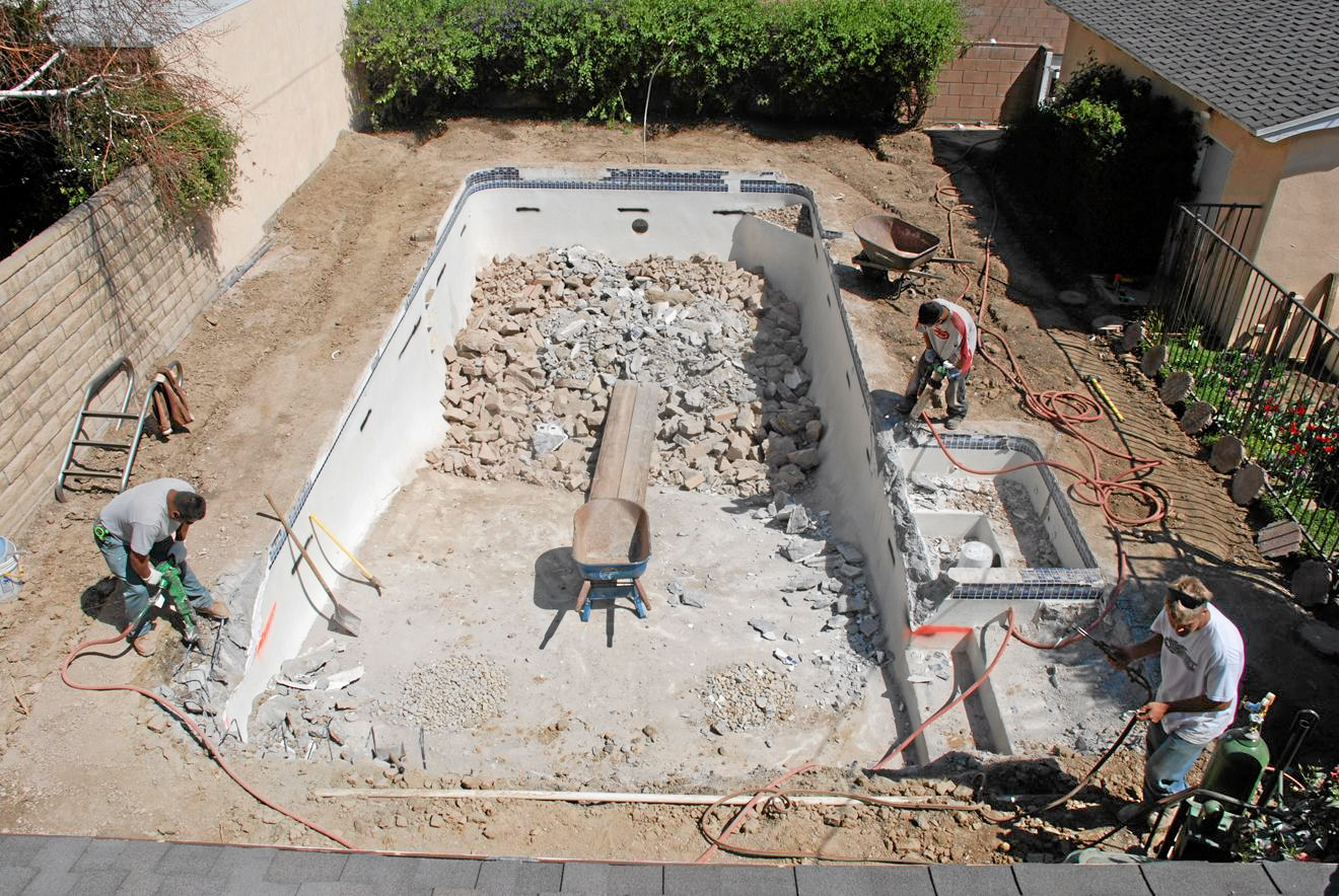 remove a built in swimming pool