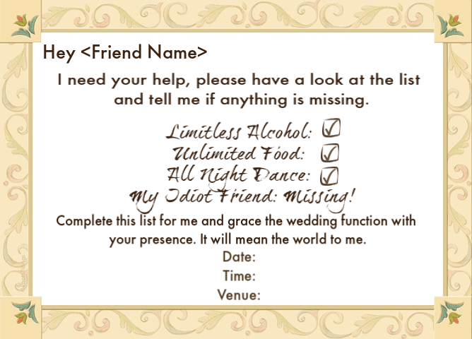Wedding Invite Words For Best Friends