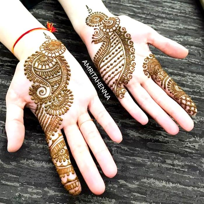 Mehandi Design Arabic Front Hand