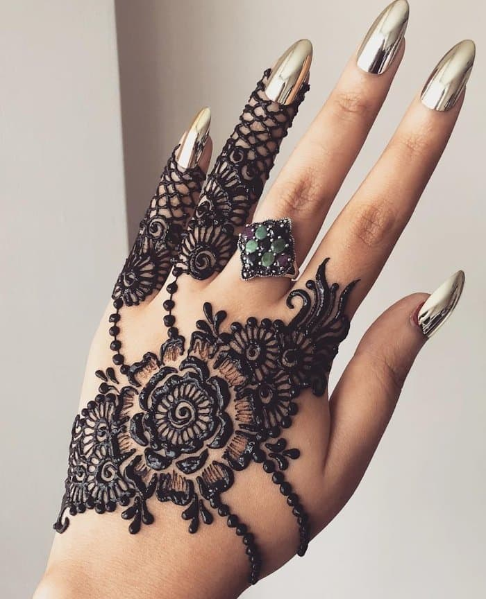 Modern Simple Arabic Mehndi Designs For Left Hand