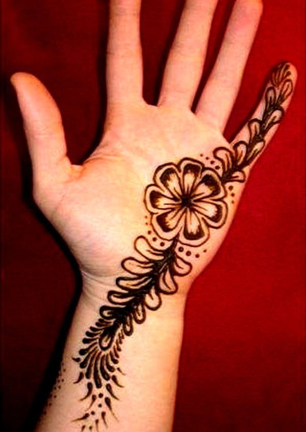 Easy Simple Mehndi Designs For Kids