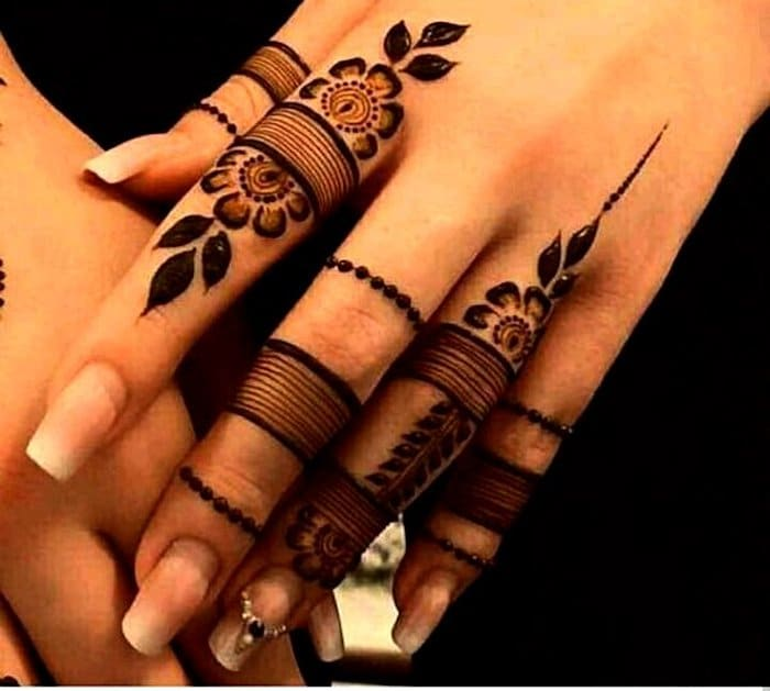 Latest Simple Finger Mehndi Design 2018