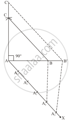 draw a right triangle abc in which ac