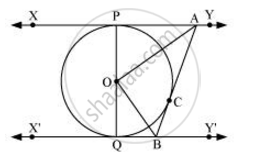 In the given figure, XY and X'Y' are two parallel tangents