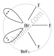 Draw the structures of the following molecules: BrF3