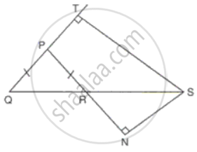 ΔPqr is an Isosceles Triangle with Pq = Pr. Qr is Extended