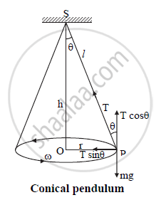 Draw a Neat Labelled Diagram of Conical Pendulum. State