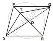 In a Parallelogram Pqrs, T is Any Point on the Diagonal Pr