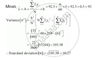 Find the Mean. Variance and Standard Deviation Using Short-cut Method Height in Cms and No. of Children - Mathematics   Shaalaa.com