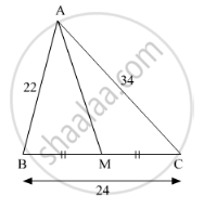 Seg Am is a Median of ∆Abc. If Ab = 22, Ac = 34, Bc = 24