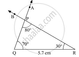 Construct ∆Pqr Such That, M ∠ P = 80°, M ∠ Q = 70°, L(Qr