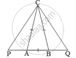 In an isosceles ∆ABC, the base AB is produced both ways in