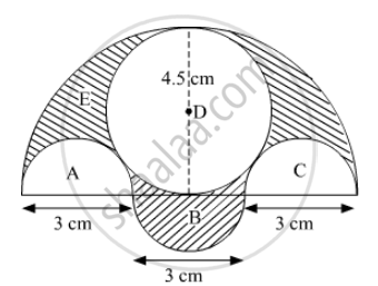 Three Semicircles Each of Diameter 3 Cm, a Circle of