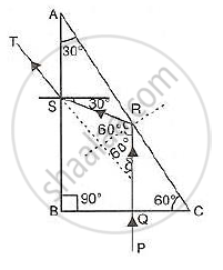 Draw a Neat Labelled Ray Diagram to Show the Total