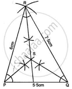 Using Ruler and a Pair Compass Only, Construct a Triangle