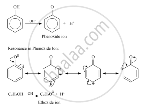 Give Reasons for the Following : Phenol is More Acidic