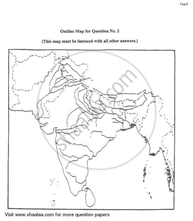 Geography 2009-2010 ICSE Class 10 question paper with PDF