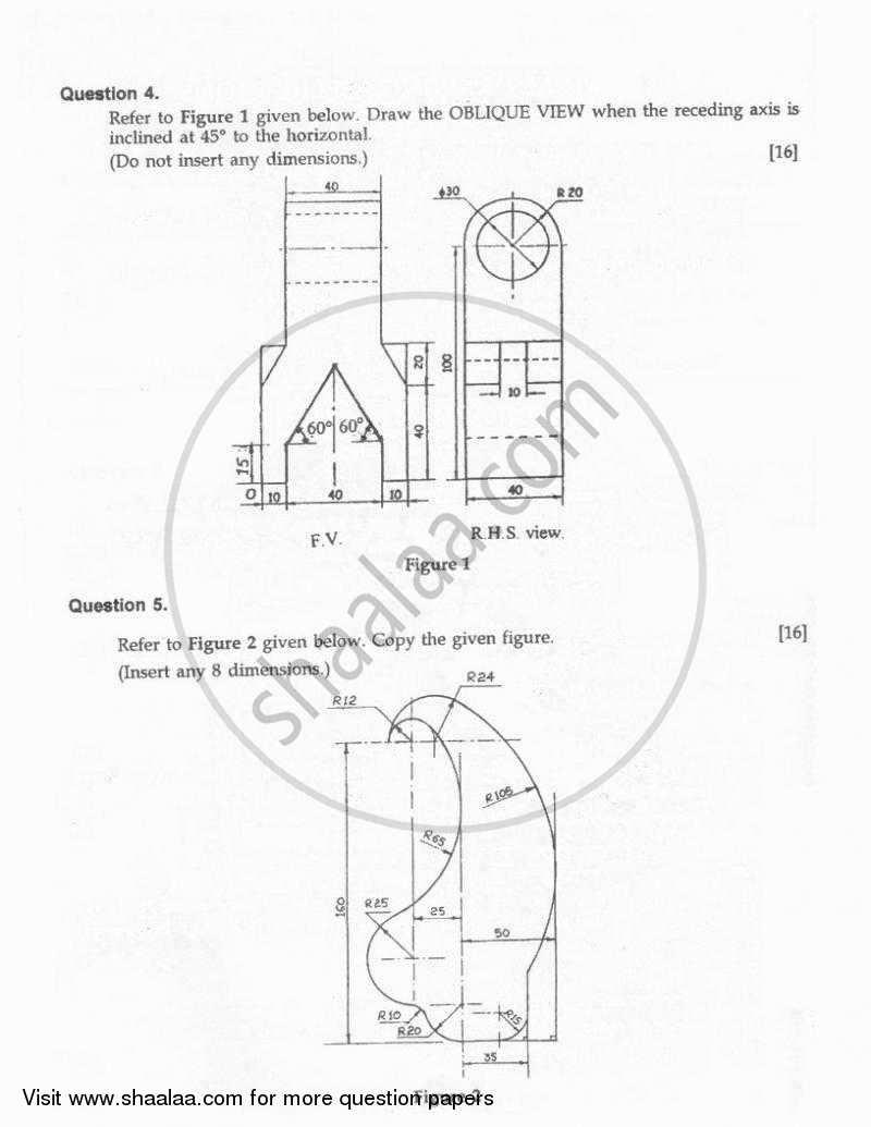 Technical Drawing Applications 2010-2011 ICSE Class 10