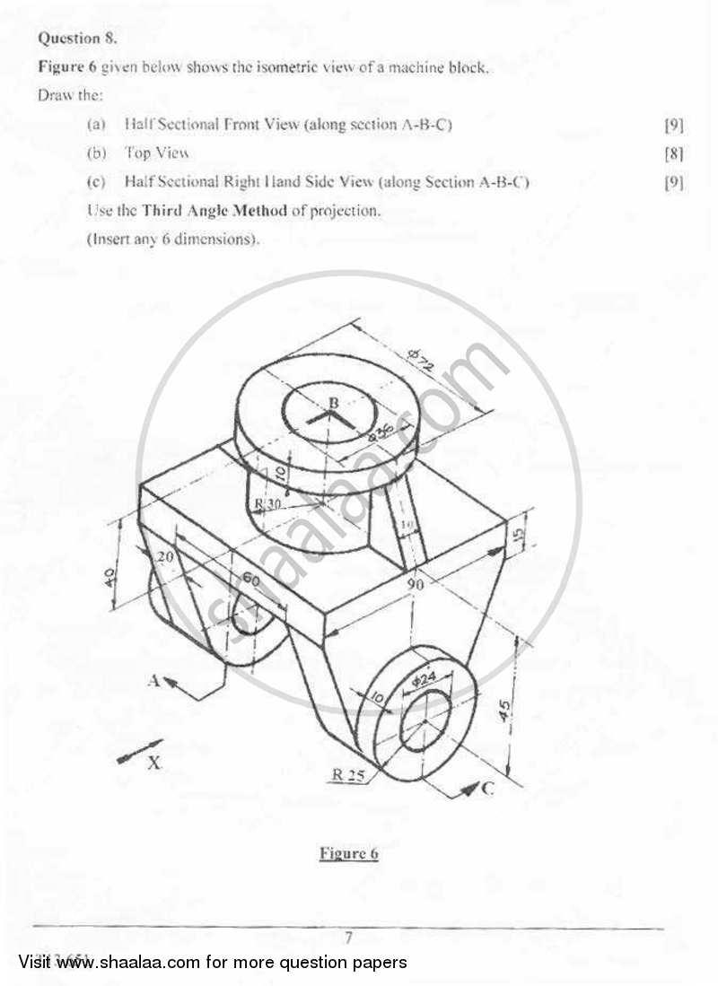Technical Drawing Applications 2012-2013 ICSE Class 10