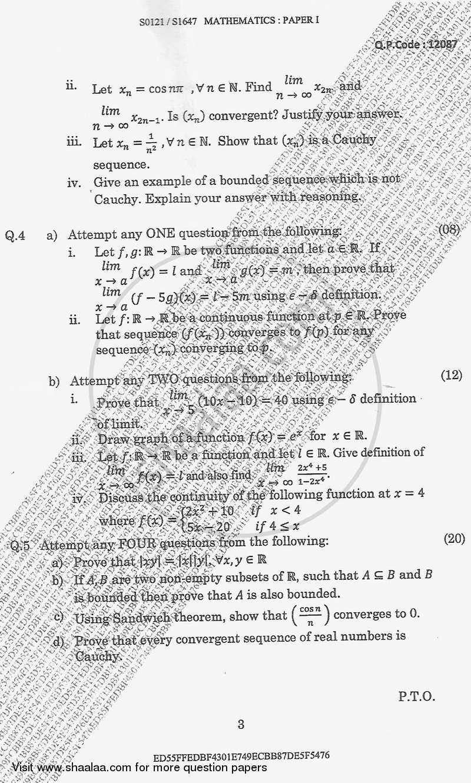 Calculus 1 2017-2018 BA Mathematics Semester 1 (FYBA