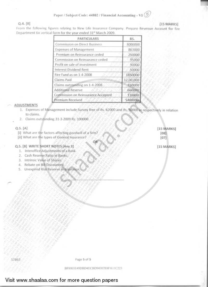 Financial Accounting 6 2018-2019 B.Com Accounting and