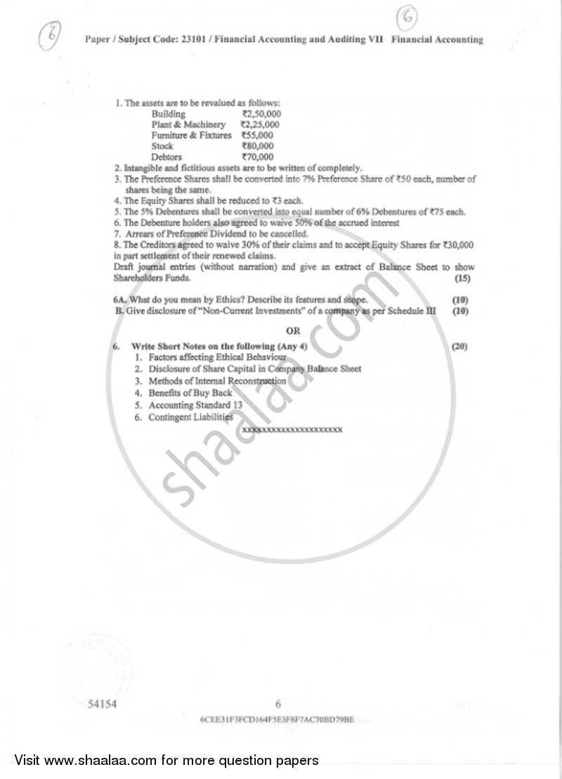 Financial Accounting (Financial Accounting and Auditing 5