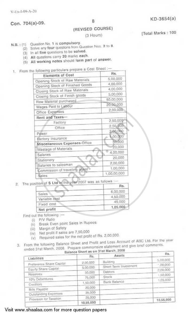 Financial Management 2008-2009 BCom IDOL (Correspondence