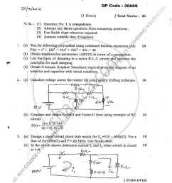 question paper circuit theory 2015 2016 b e semester 3 se second [ 800 x 1035 Pixel ]