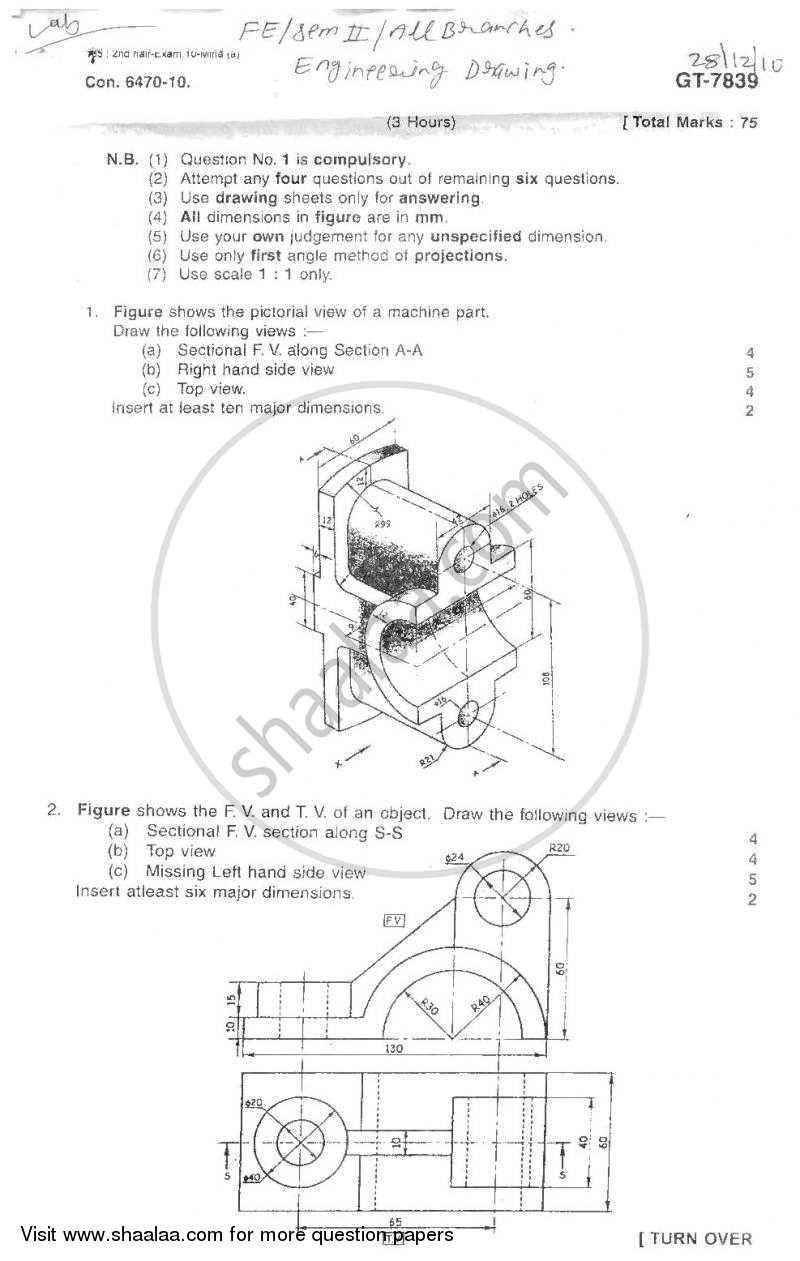 Engineering Drawing 2010-2011 BE Civil Engineering