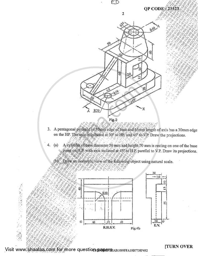 Engineering Drawing 2017-2018 BE Electronics Engineering