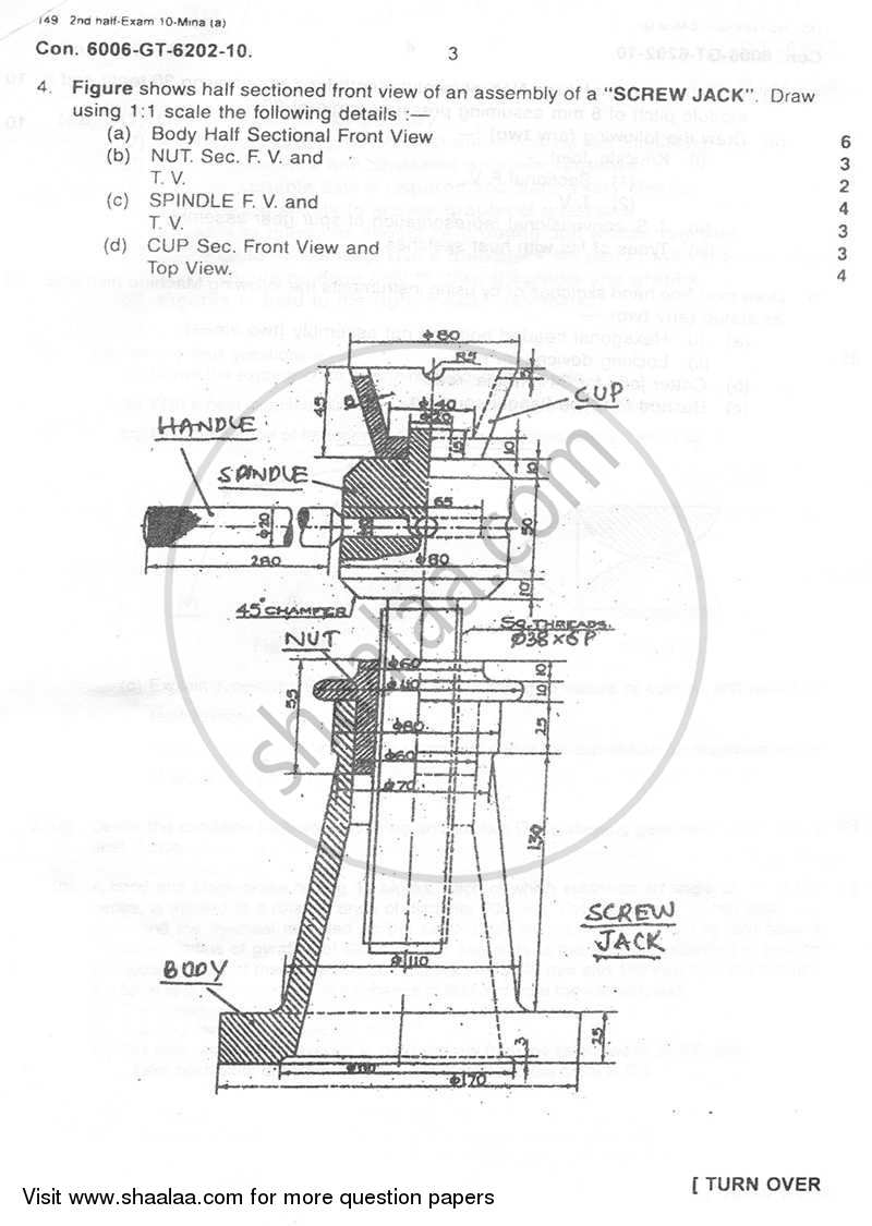 Engineering Graphics and Machine Drawing 2010-2011 BE
