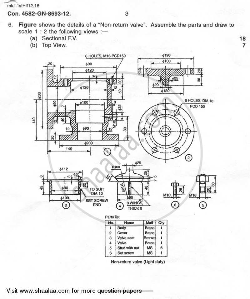 Engineering Graphics and Machine Drawing 2011-2012 BE