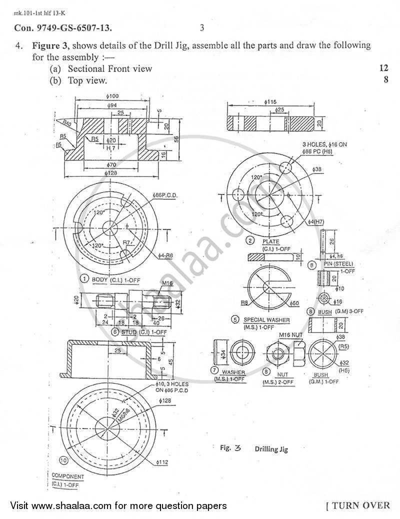 Engineering Graphics and Machine Drawing 2012-2013 BE