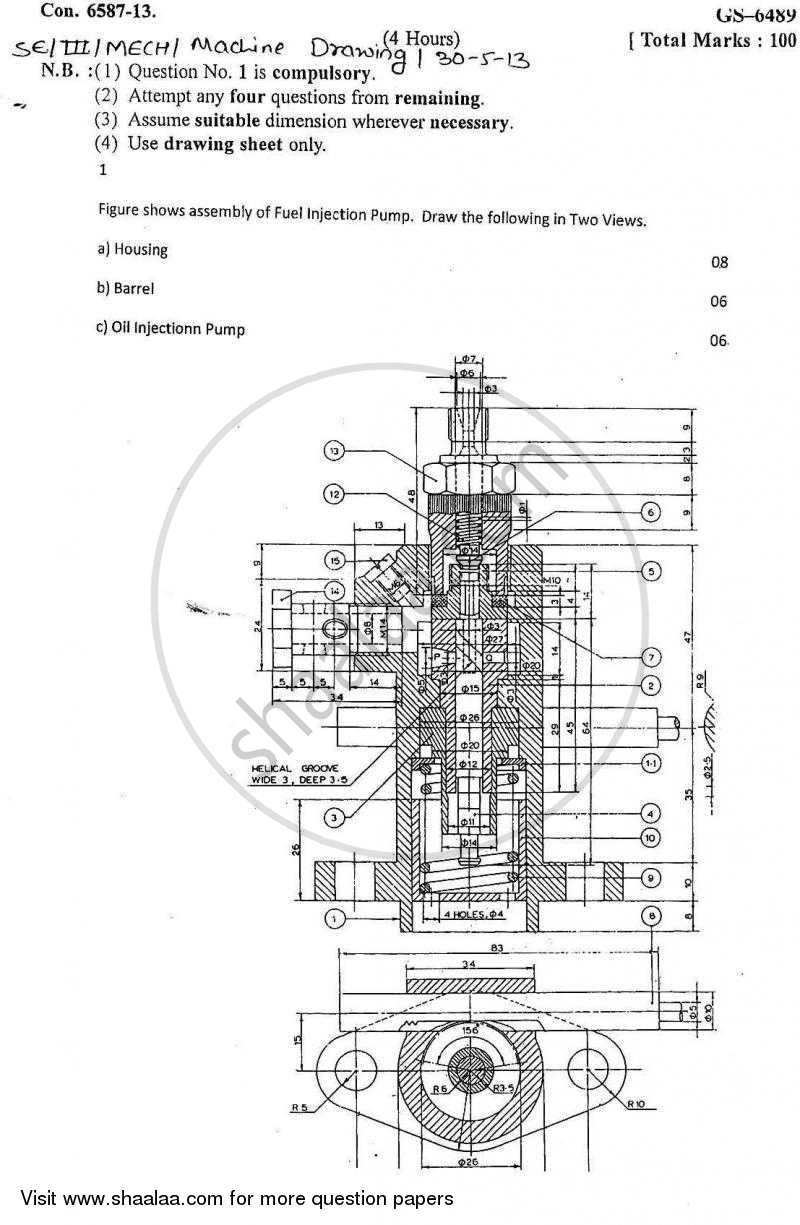 Machine Drawing For Diploma Pdf