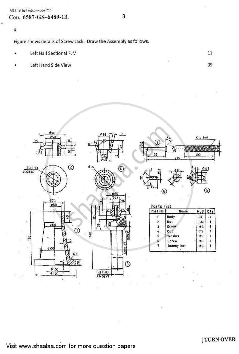 Machine Drawing 2012-2013 BE Mechanical Engineering