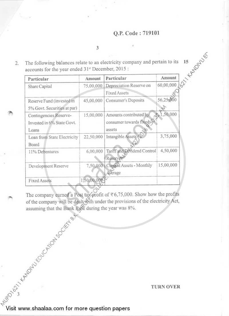 Financial Accounting 7 2015-2016 B.Com Accounting and